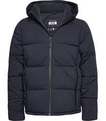 anf mens outerwear fodrad jacka blå abercrombie & fitch