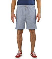 department 5 light blue white bermuda shorts