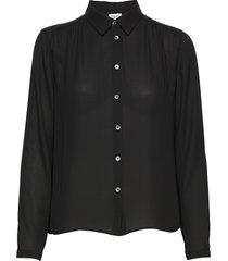 marielle top blouse lange mouwen zwart filippa k