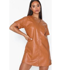 glamorous pu mini dress loose fit dresses