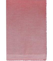 faliero sarti amante multicolor scarf with fringes