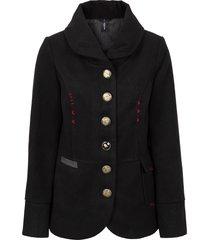 giacca con bottoni gioiello (nero) - rainbow