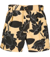 jacquemus le tennis shorts - yellow