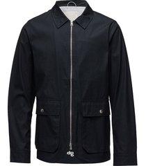 waxed jacket with big pockets dun jack blauw knowledge cotton apparel