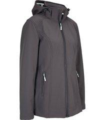 giacca elasticizzata in softshell (grigio) - bpc bonprix collection