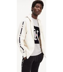 tommy hilfiger men's lewis hamilton relaxed fit hoodie white - xxl