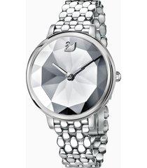 orologio crystal lake, bracciale di metallo, bianco, acciaio inossidabile