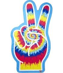 peace fingers beach blanket