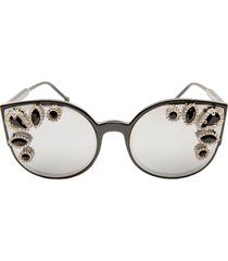 women's rad + refined crystal embellished cat eye sunglasses -