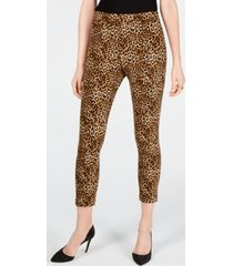 i.n.c. leopard skinny ankle pants, created for macy's