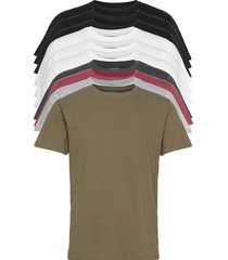 dp longy tee 10 pack t-shirts short-sleeved multi/mönstrad denim project