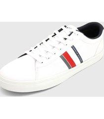 tenis blanco-azul-rojo tommy hilfiger