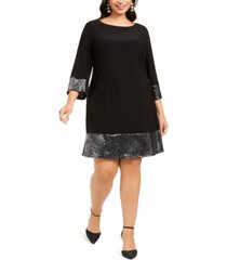 jessica howard plus size metallic-trim a-line dress