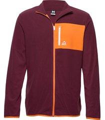 fleece jacket sweat-shirts & hoodies fleeces & midlayers röd bula