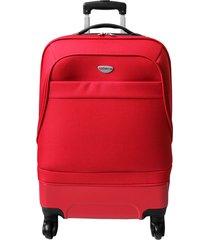 maleta de viaje mediana rojo hibrido - explora