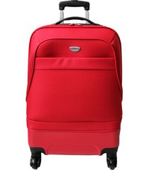 maleta mediana hibrido rojo 24