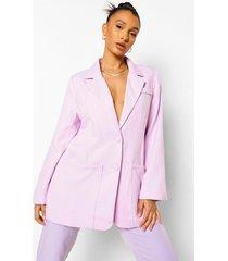 mix & match felle super oversized blazer, lilac