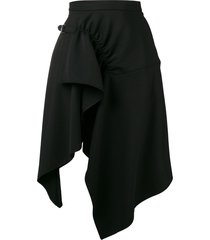 3.1 phillip lim tailored handkerchief skirt - black