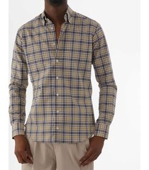 none of the above made in italy tartan check shirt - blue 8028