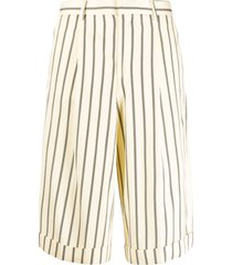 each x other retro striped shorts - neutrals