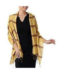 silk blend shawl, 'friendly essence' (thailand)