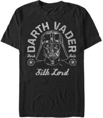 star wars men's a new hope distressed vader the sith lord short sleeve t-shirt