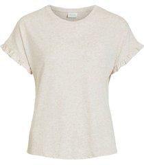topp vibaria s/s frill top