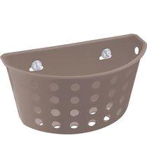 cesta com ventosas one 20,3x11,5x10cm warm gray - 10812/0126 - coza - coza