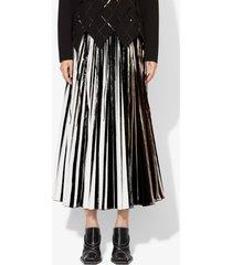 proenza schouler foil pleated skirt white/black/gunmetal 4