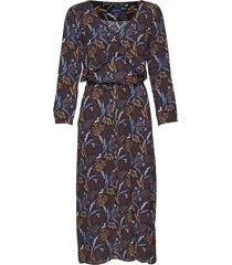 d1. harvest moon ruffle dress jurk knielengte blauw gant