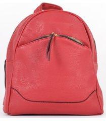 mochila cierre redondo rojo mailea