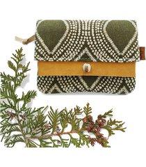 portfel boho mini - zielony etniczny