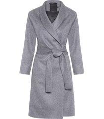 casaco feminino sobretudo alpaca - cinza
