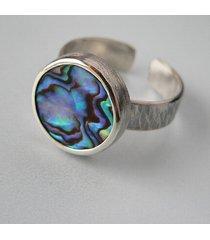 -muszla paua-pierścionek-