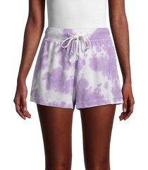 grey state women's tie dye cerise shorts - purple tie dye - size xs