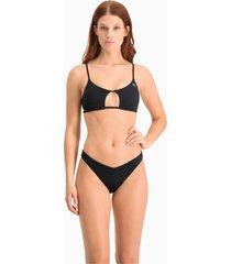 bikinibroekje v-vormig voor dames, zwart, maat xl | puma