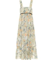 thin strap low back floral maxi dress