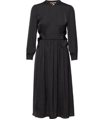 midi length dress with fitted waist and tie details dresses everyday dresses svart scotch & soda