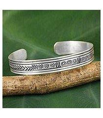 silver cuff bracelet, 'karen magic' (thailand)
