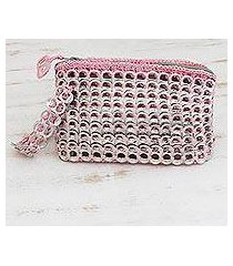 soda pop-top wristlet bag, 'rosy spark' (brazil)