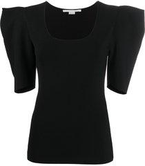 stella mccartney structured shoulders t-shirt - black