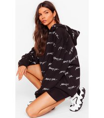 womens nothing but a oversized hoodie - black