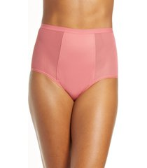 women's thinx period proof high waist panties, size 3x-large - pink