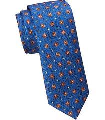 collection textured medallion print silk tie