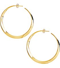 14k goldplate twisted hoop earrings