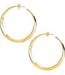 14k goldplate twisted hoop earrings