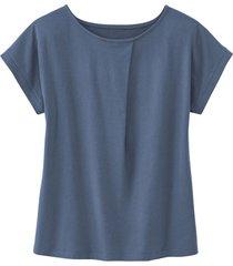 shirt met ronde hals en wijdteplooi van bio-katoen, rookb 38