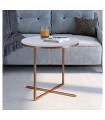 mesa média para sala de estar artesano volpi cobre