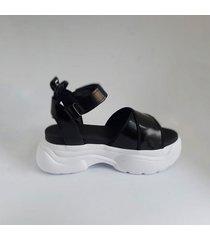 sandalia  negra dalias