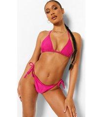 essentials tie side bikini brief, bright pink